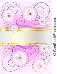 Delicate flowers on a background of - Banner with delicate...
