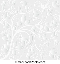 clear background with floral ornaments
