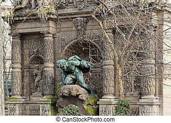 Medici fountain, the grotto of luxembourg  Paris France
