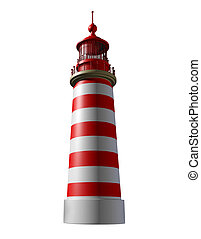 Lighthouse on a white background as a beacon of hope and...