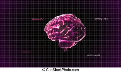 red brain rotate with timecode - X-ray Brain to represent...