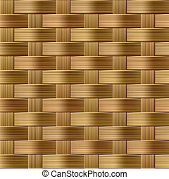 Wicker pattern - Vector seamless illustration of a wicker...