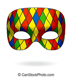 Harlequin mask illustration