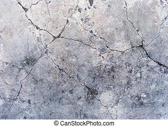 grunge, Danificado, concreto, parede, superfície,...