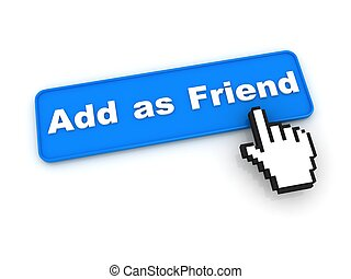 Add as Friend Button with Hand Cursor