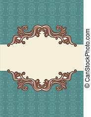 Abstract vintage frame with vignettes for text