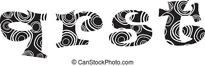 Handdrawn vector lliteras - q,r,s,t, alphabet