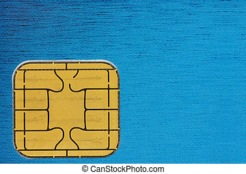 credit card chip  - close up of a credit card chip
