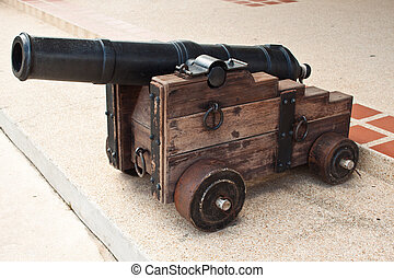 artillería, tazón, batalla