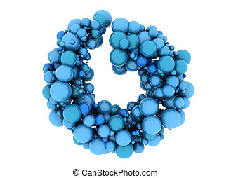 Abstract blue spheres 3d