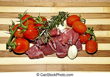 Beef stew with rosemary and garlic