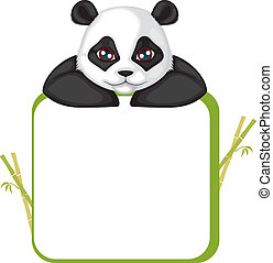 Frame with panda - Greetings card with the muzzle of the...