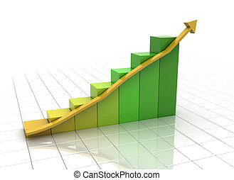 business graph on white
