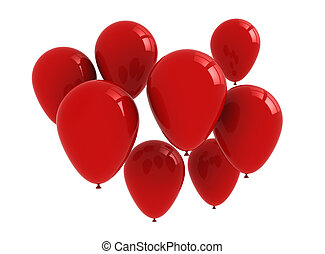 Red balloons background