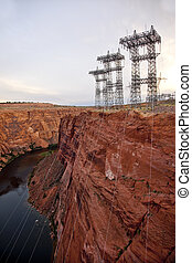 Power Lines at Glen Canyon Dam