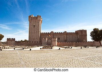 La Mota castle in Medina del Campo, Valladolid, Spain - La...