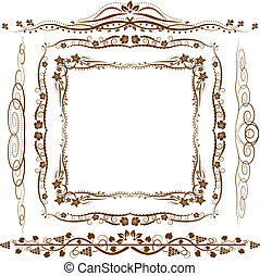 frame and ornaments