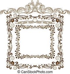 frames and ornaments - Decorative frames and ornaments