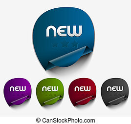 stickers set - Vector new stickers set. Transparent shadow...