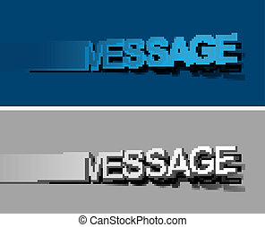 Message peel off vector design element