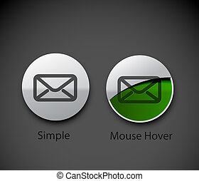 email icon web design element - vector email icon web design...
