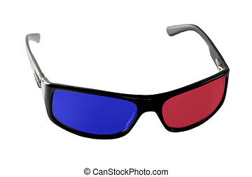 3-d glasses isolated on white background