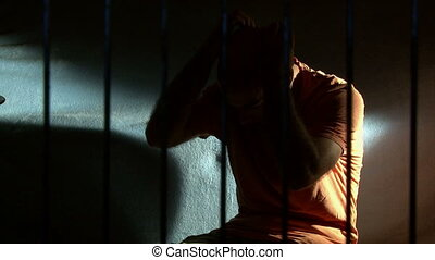 Man in prison, take 2 - Man in prison Front, right Depressed...