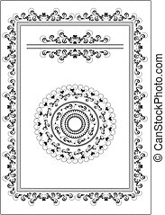 Decorative frame, border.Graphic ar