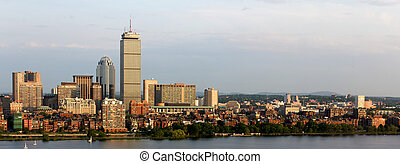 Panoramic View of Boston Back Bay and Brookline - Panoramic...