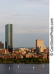 Boston Back Bay with the John Hancock Tower - View of the...