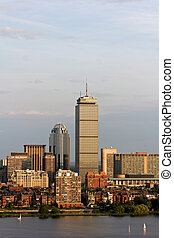 Boston Back Bay with the Prudential Tower - View of the...