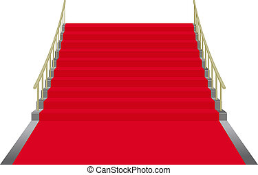 red carpet - stairs covered with red carpet