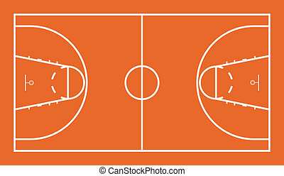Basketball Court - Vector Illustration of Official FIBA...