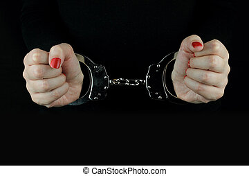 Arrested Woman