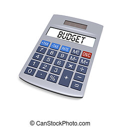 Budget calculator - Calculator with word budget on display