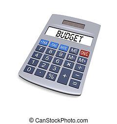 presupuesto, calculadora