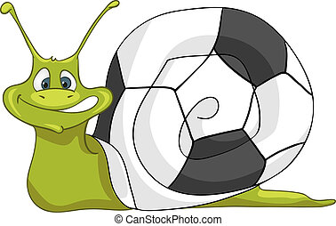 Cartoon Character Snail Isolated on White Background Vector...