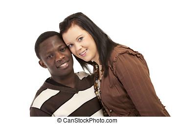 Happy mixed couple
