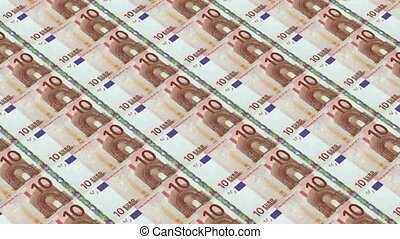 10 euro bills,Printing Money Animat