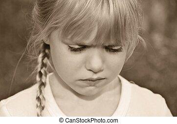 moody little girl