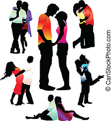 Vector Illustration. Boys and girls