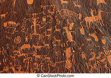 Newspaper Rock Petroglyphs in the southwest United States