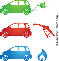 different fuels - symbols for different fuels