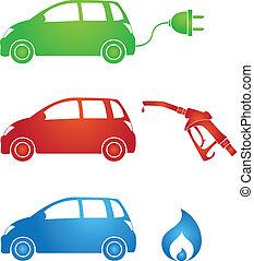 different fuels - symbols for different fuels