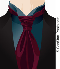 Stylized background with cravat