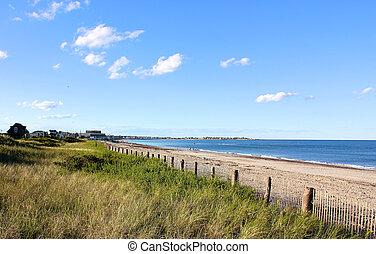 New England Beach - A Cape Cod, MA, New England beach lying...