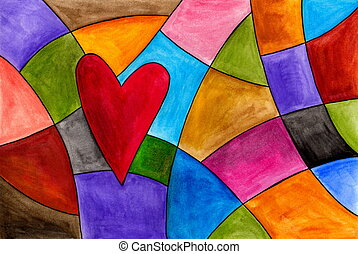 Abstract background - artistic work. watercolours on paper.