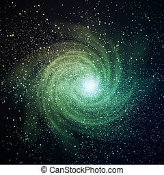 Space galaxy image - Image of glowing galaxy against black...