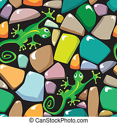 Seamless texture of colorful pebble