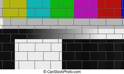 wall monitor color bar - Breaking video wall animation with...